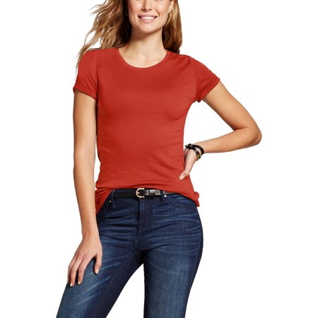 Womens Crew Neck T Shirt Short Sleeve Classic Cotton Solid Top