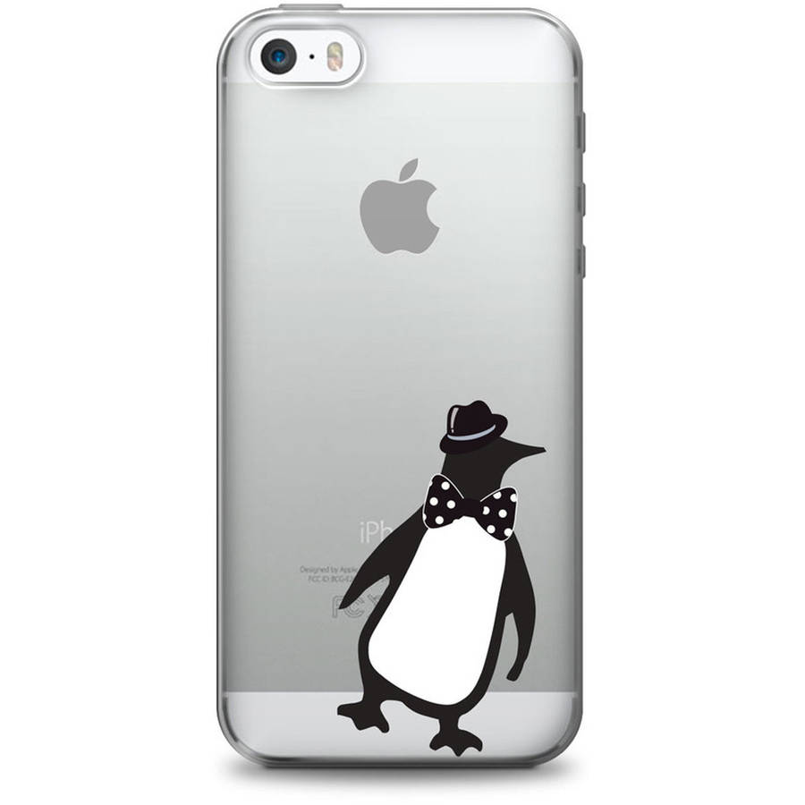 OTM Critter Prints Clear Phone Case for Apple iPhone 6, Penguin