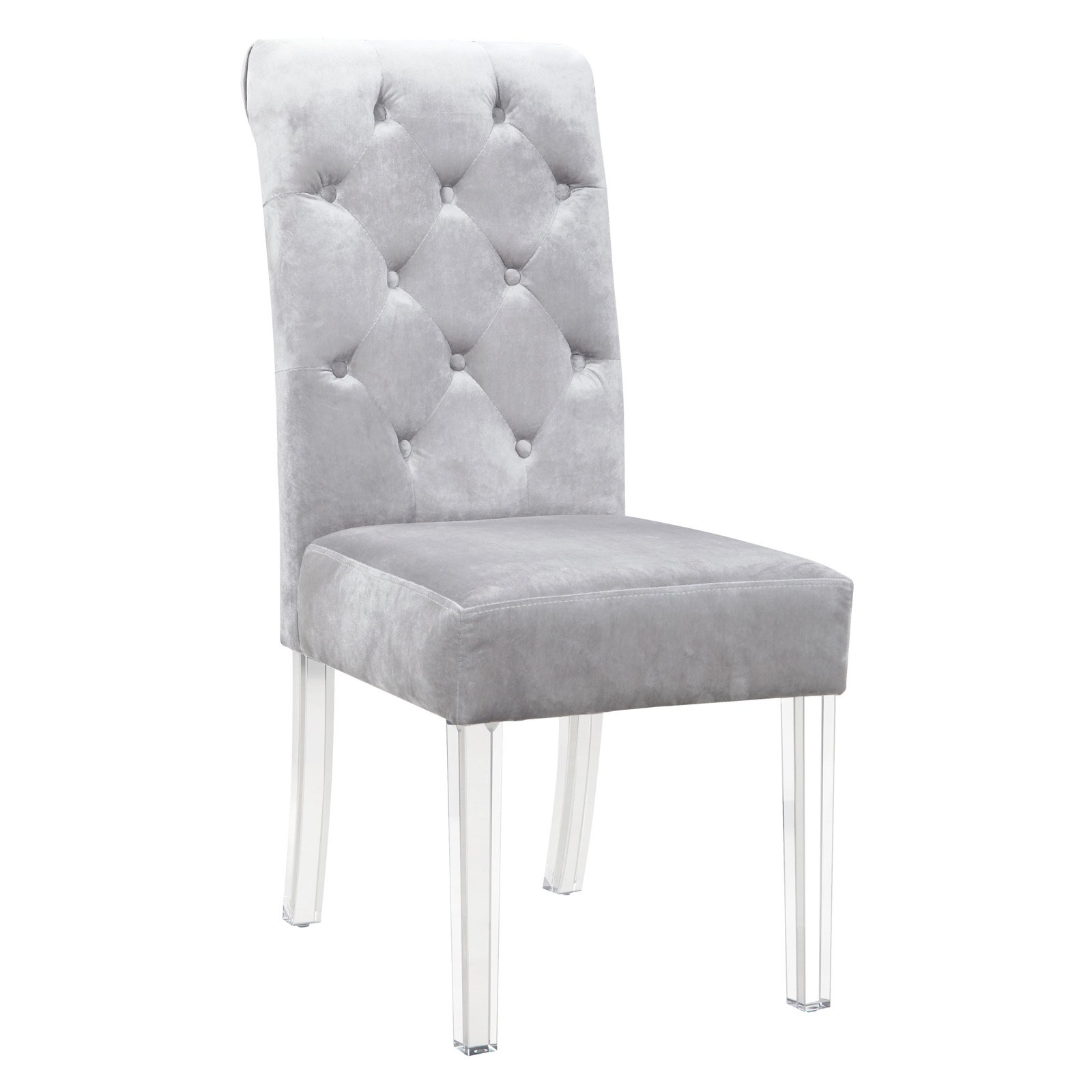 Chic Home Tate Tufted Velvet Dining Side Chair Set Of 2 Walmart Com Walmart Com