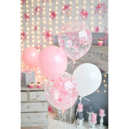HelloDecor Polyster 5x7ft Party Backdrop Balloon Birthday Photography Background Kid Girl Toddler Child Infant Baby Artistic Portrait Indoor Decoration Photo Shoot Studio Props Video - Halloween Photo Shoot Ideas For Infants