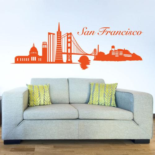 Style and Apply San Francisco Skyline Wall Decal