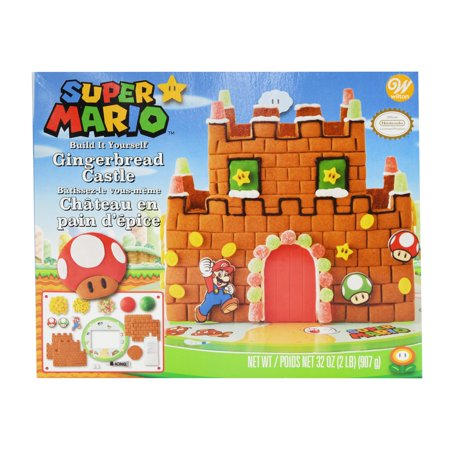 Wilton Build-it-Yourself Nintendo Mario Bros. Gingerbread Castle Decorating (Filled Gingerbread)