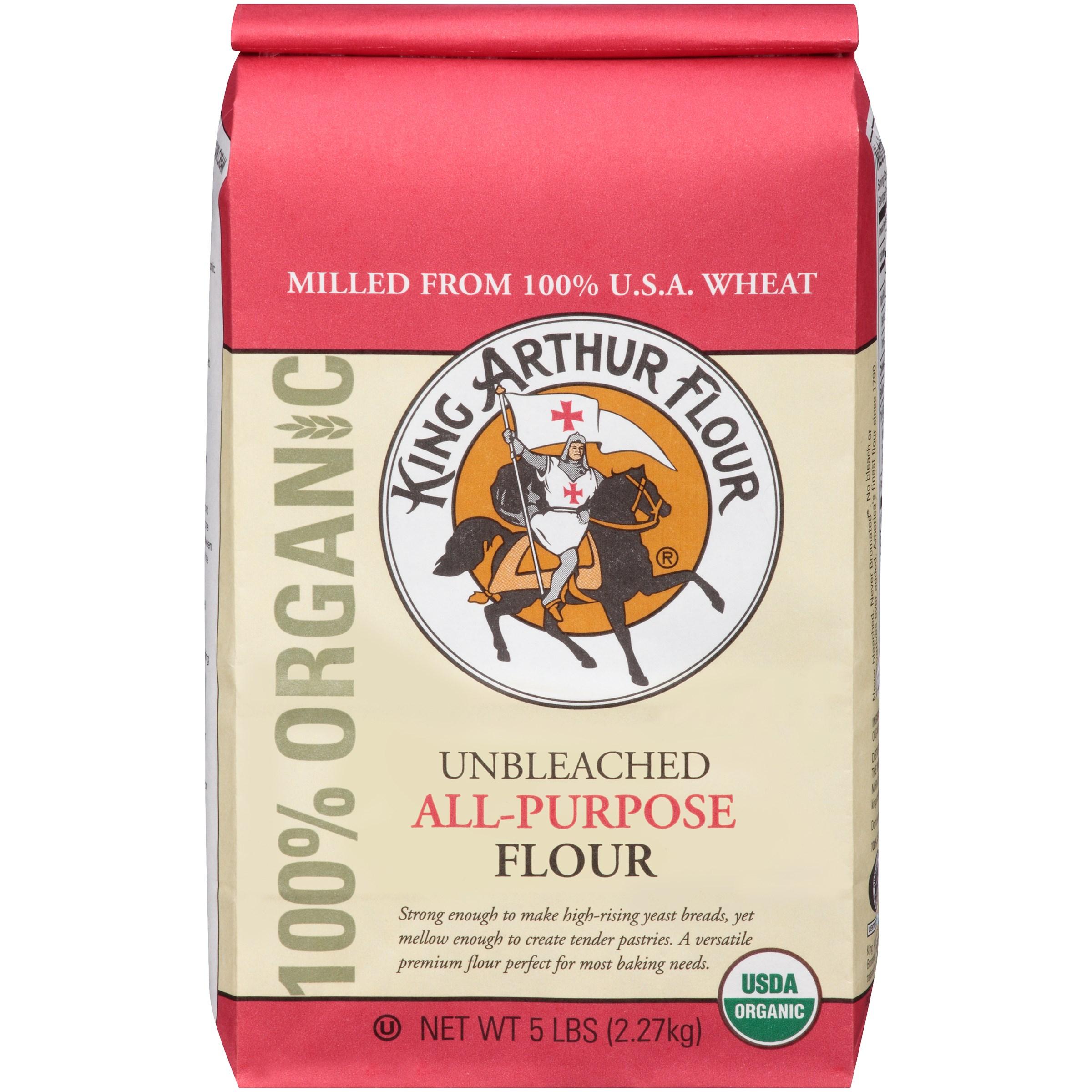 (6 Pack) King Arthur Flour Flour, All-Purpose, Unbleached, 5 LB