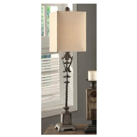 Crestview Belle Iron Large Buffet Lamp In Iron and Resin Finish CVAER223