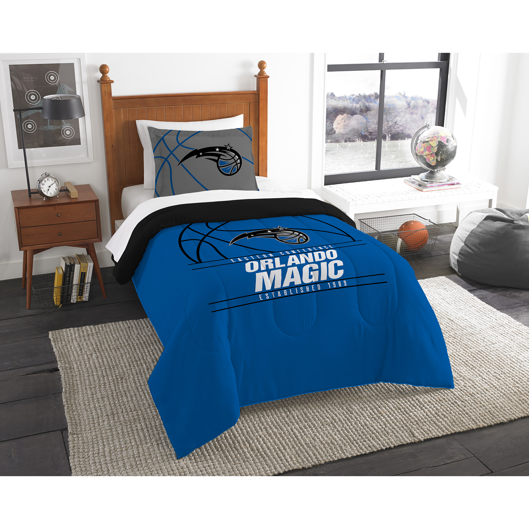 Orlando Magic The Northwest Company Reverse Slam Twin Comforter Set - No Size