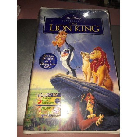 New The Lion King VHS Walt Disney Masterpiece Collection 1995 Factory