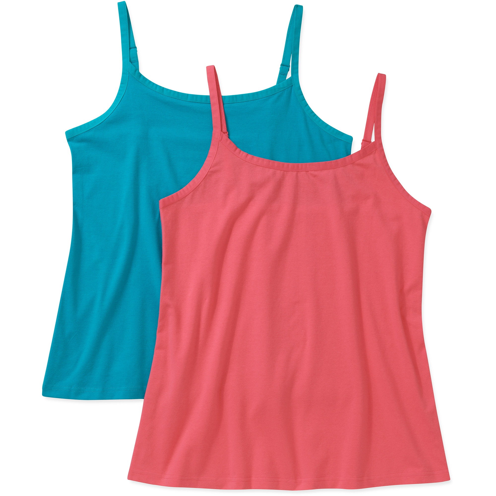 Faded Glory Women's Plus-Size Basic Camisole 2-pack