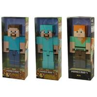 Mattel - Minecraft Articulated Action Figures - SET OF 3 (Alex, Steve & Diamond Steve)(8.5 inch)