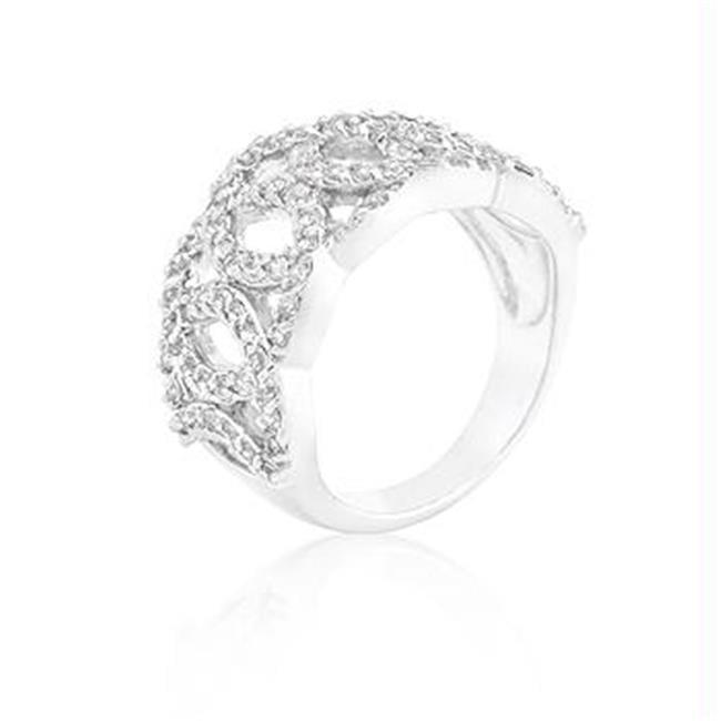 CZ Circular Ring, <b>Size :</b> 05
