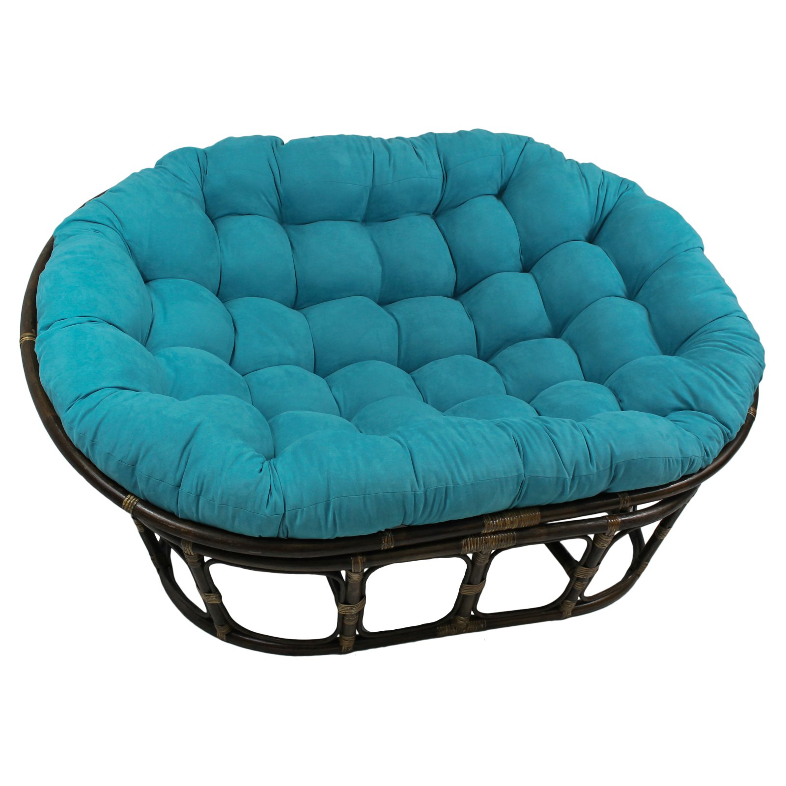 International Caravan Double Papasan Chair with Micro Suede Cushion
