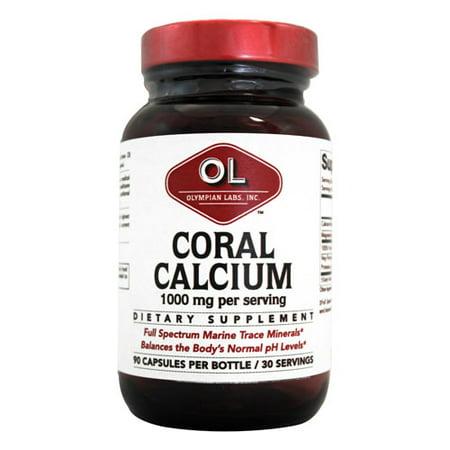 Olympian Labs Le calcium de corail Complément alimentaire, 1000 mg, 90 count