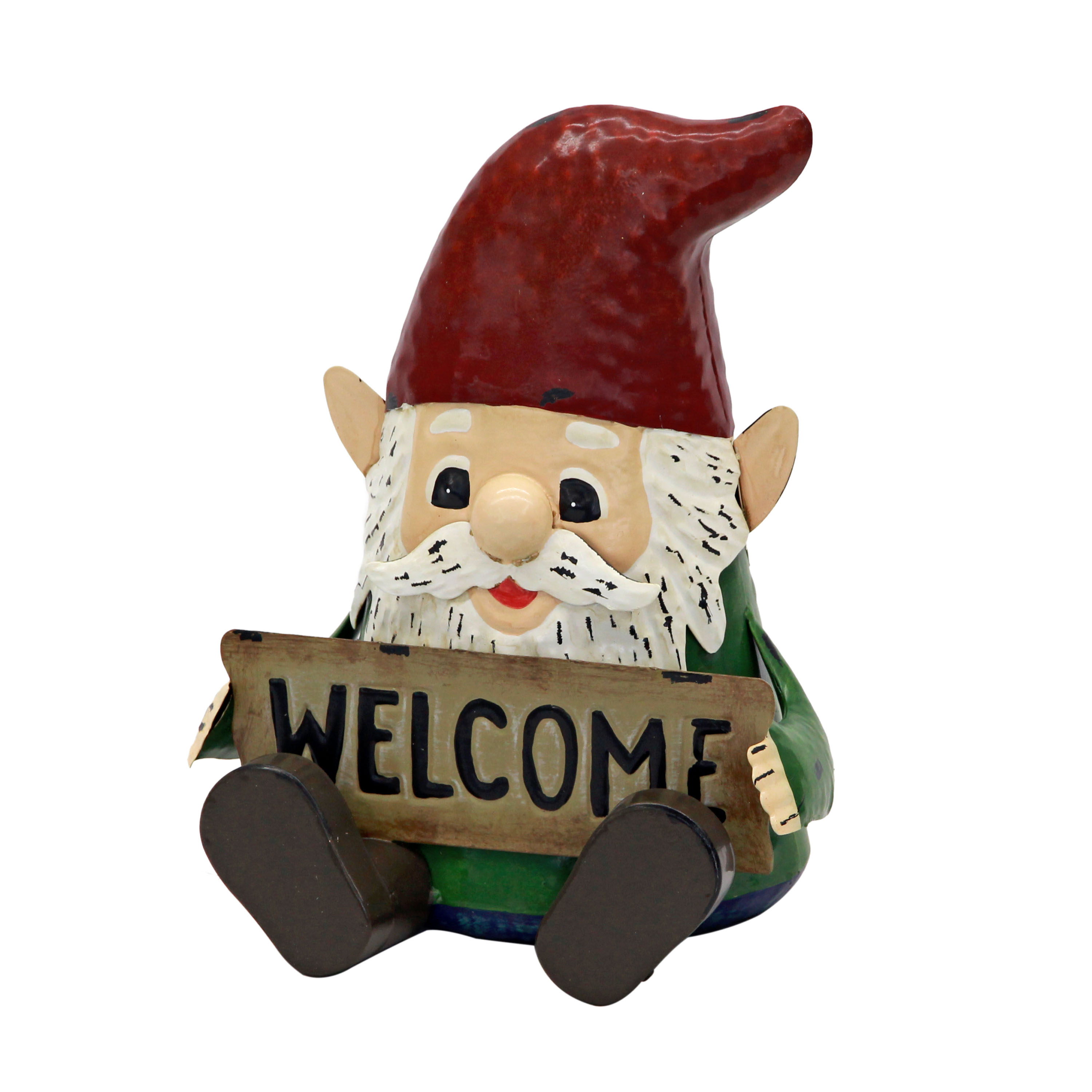Mainstays Outdoor Metal Welcome Gnome Statuary