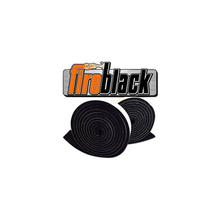 FireBlack 125 Black Nomex Self Stick Replacement Big Green Egg Gasket High Temp w/ LavaLock (tm) LG