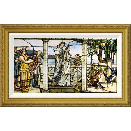 Global Gallery 'Group of Maidens' by Tiffany Studios Framed Graphic Art