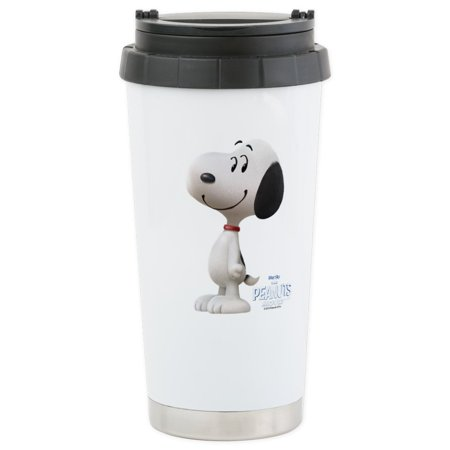CafePress - Snoopy - The Peanuts Mo Stainless Steel Travel Mug - Stainless Steel Travel Mug, Insulated 16 oz. Coffee Tumbler](Snoopy Halloween Tumblr)