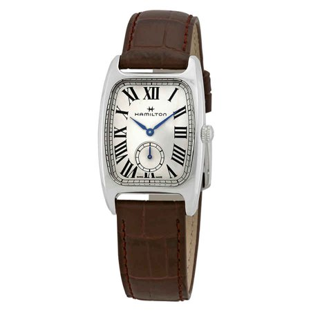 Hamilton Boulton L White-Silver Dial Ladies Leather Watch H13421511