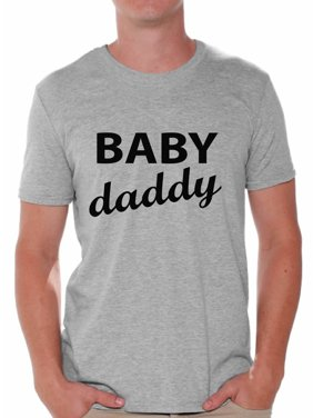 c743ec9c09 Product Image Awkward Styles Baby Daddy Men's T-shirt Daddy Tee Shirt Tops  Father To Be Shirts