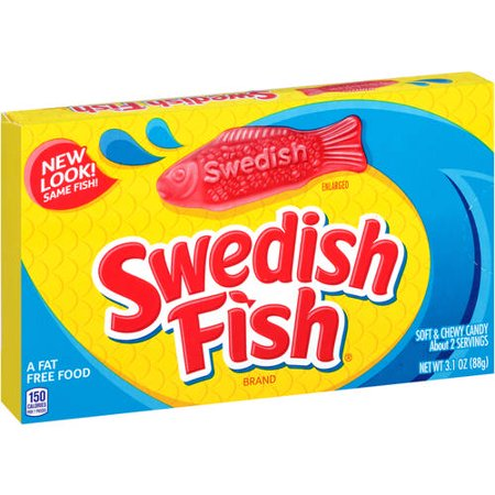 Swedish Fish Fat-Free Soft & Chewy Candies, 3.1 - Cheryl Halloween