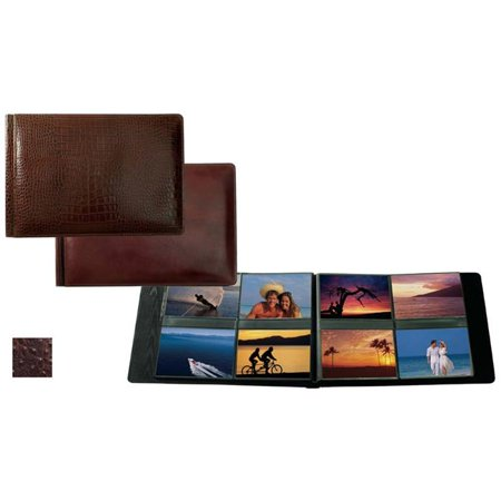 4in. x 6in. Landscape Format with 8 Photo Album - Brown (Landscape Photo Album)