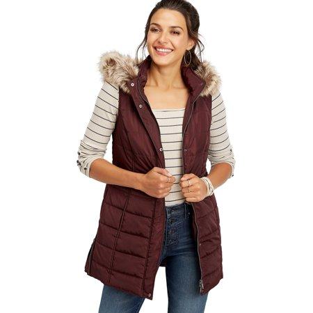 Long Hooded Puffer Vest