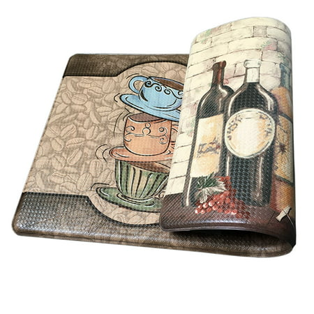 Premium Reversible Memory Foam Kitchen Rug Anti-Fatigue Chef Comfort Mat, 18