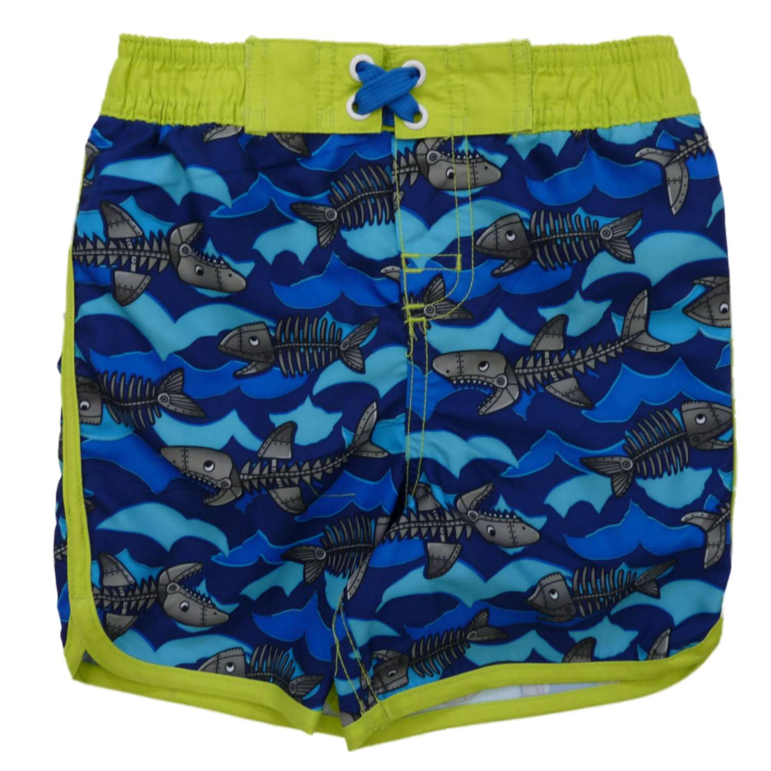 Joe Boxer Infant Boys Skeleton Fish Swim Trunks Shark Board Shorts