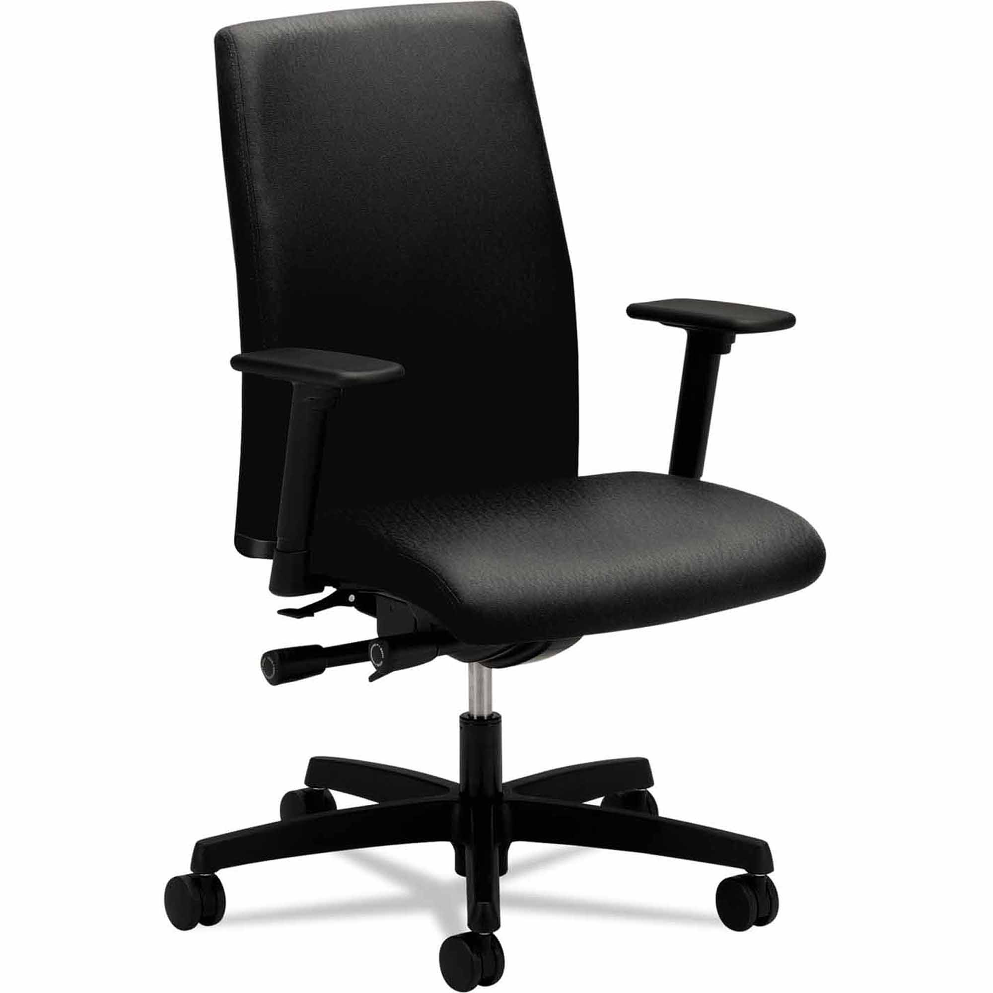 Hon Ignition Series Low-Back Task Chair, Black Fabric Upholstery