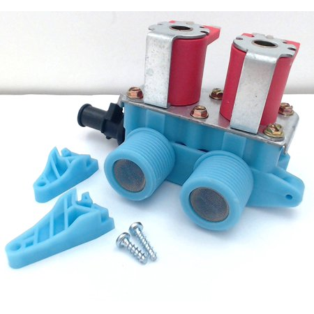 Supco Universal Washer Water Valve, WV3, Rotating solenoids allow for exact match to OEM wiring positions By Seneca River Trading