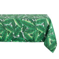 """Design Imports Casual Rectangle Banana Leaf Outdoor Tablecloth, 120"""" x 60\ by Design Imports"""