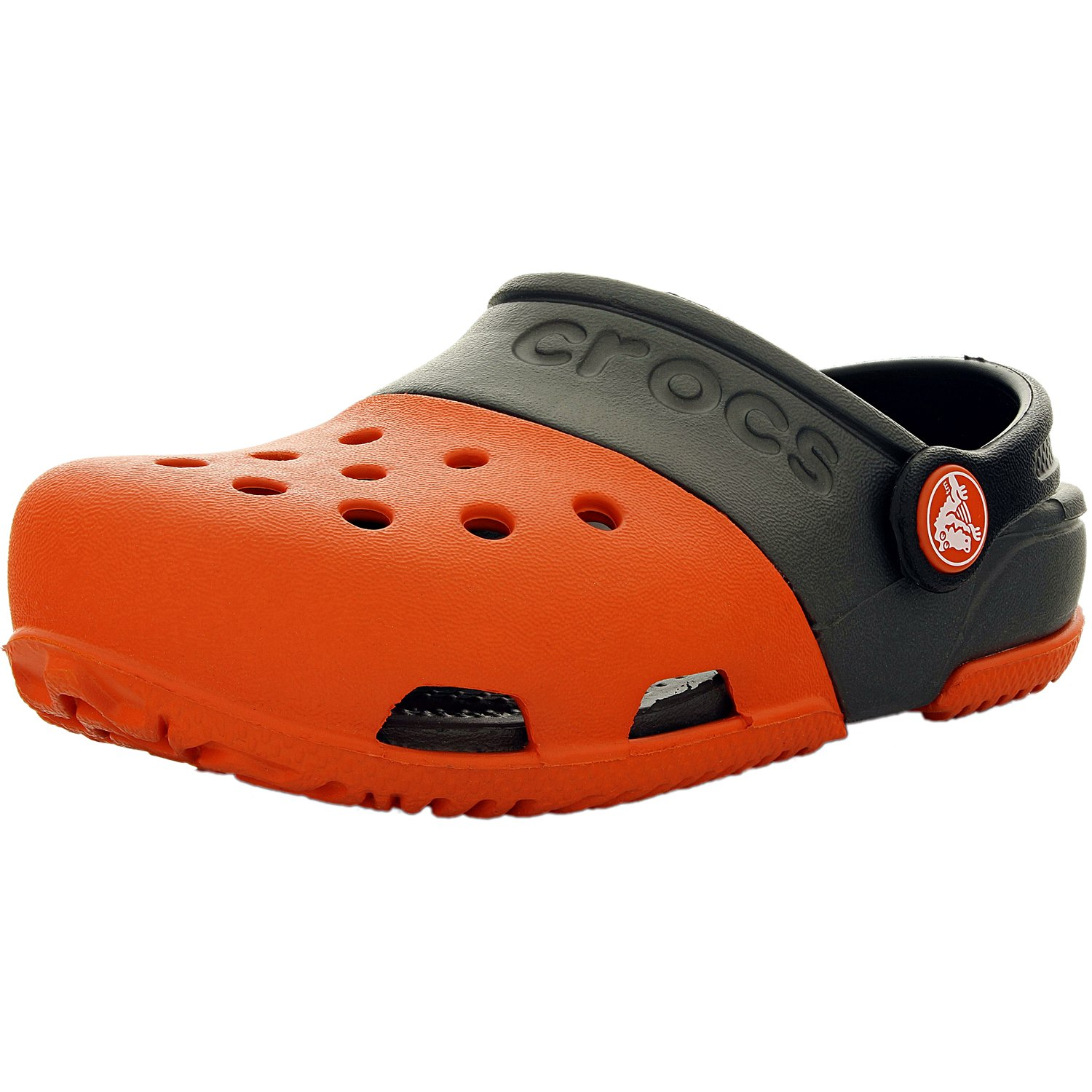 Crocs Boy's Electro Ii Tangerine Graphite Ankle-High Flat Shoe 5M by Crocs