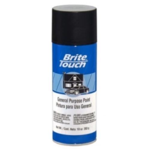 Krylon BT43 Brite Touch Automotive & General Purpose Paint Flat Black 10 Oz. Aerosol