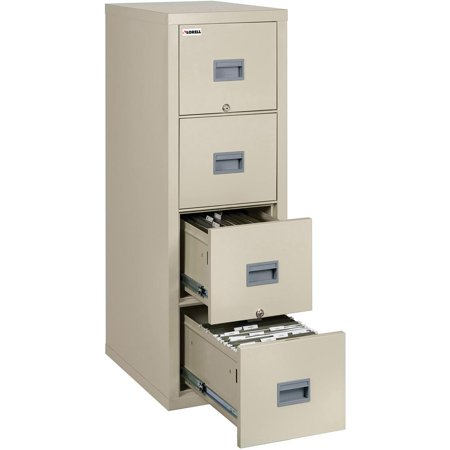 Lorell White Vertical Fireproof File Cabinet 17 8 X 31 6 52 4 Drawer S For Doent Letter Fire Proof Damage Resistant