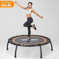 Zupapa 40-Inch rebounder for Adults and Kids, Mini Silent Fitness Trampoline for Indoor Outdoor Garden Workout Cardio Training, Max Load 330 lbs