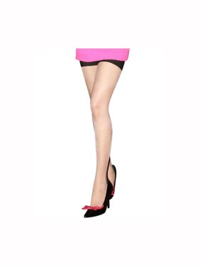 8db01074a234c Product Image Unique Bargains Women's Sexy Semi Sheer Back Seam Fully  Stretchy Thigh High Stockings 1 Pair White