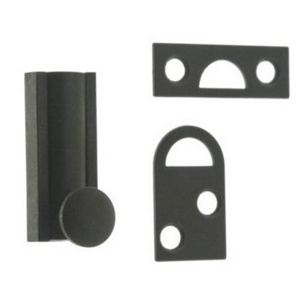 2 Solid Matte - Idh by St. Simons 11042-019 Solid Brass Surface Bolt, Matte Black - 2 in.