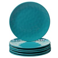 Teal Melamine Set/6 Salad Plate 9""