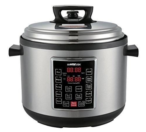 GoWISE USA 12-Quart 12-in-1 Electric Programmable Pressure Cooker (Stainless Steel)