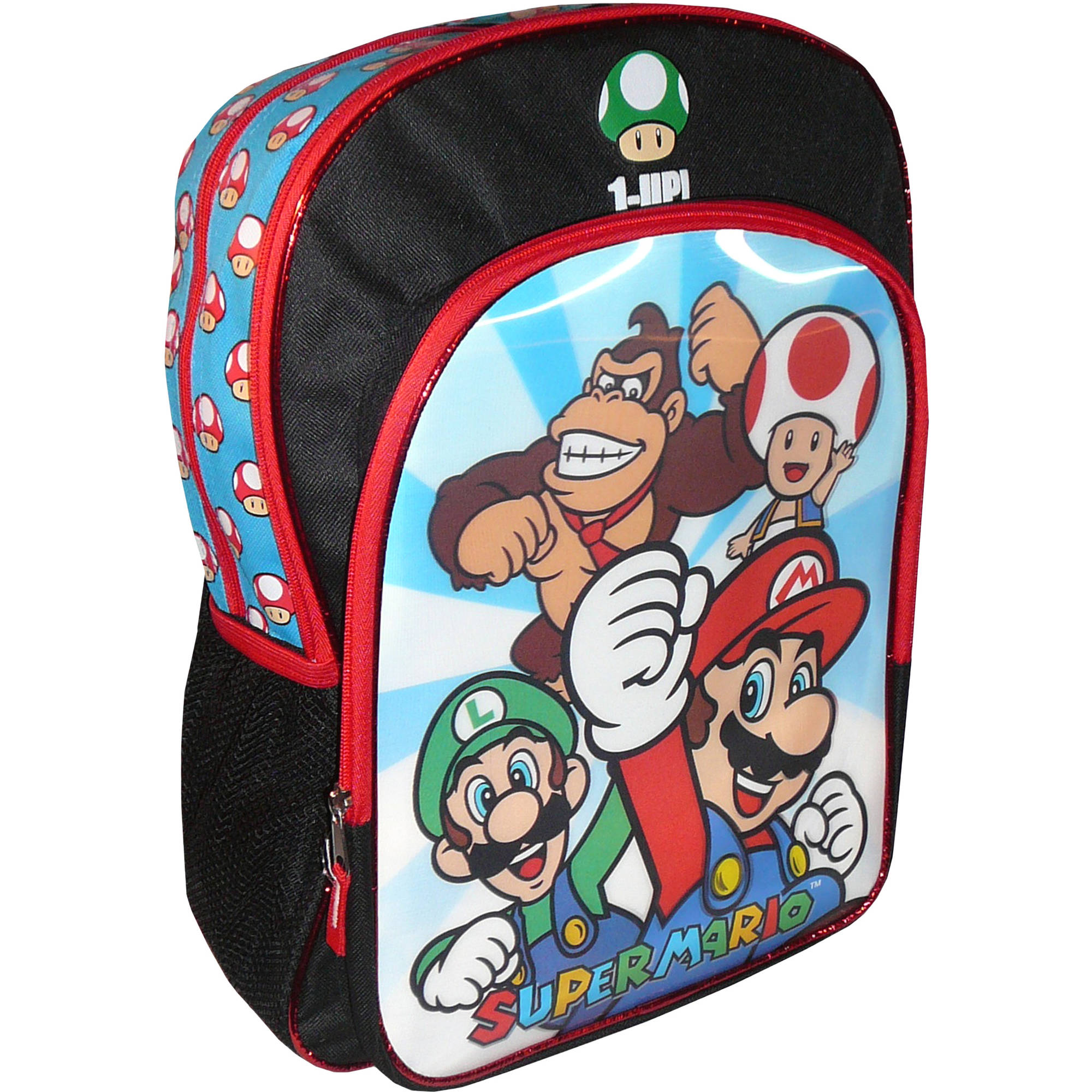 "Super Mario 16"" Backpack with Lenticular Panel"