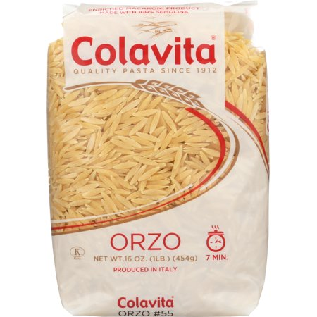 (2 pack) Colavita Orzo, Italian Pasta, 1 Lb (Colavita Italian Pasta)