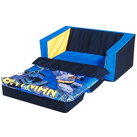 Batman flip sofa bed with sleeping bag Toddler flip out sofa couch bed