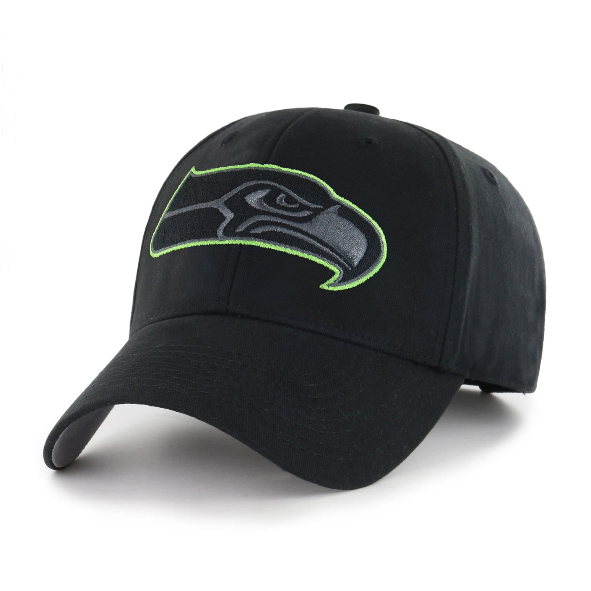 NFL Seattle Seahawks Black Mass Basic Adjustable Cap/Hat by Fan Favorite