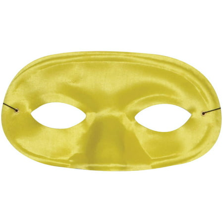Yellow Half Domino Mask Adult Halloween Accessory](Domino Group Halloween)