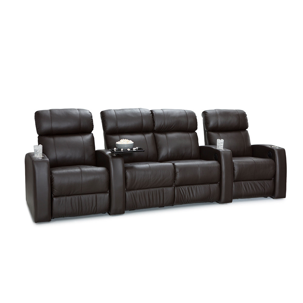 Palliser  Westley Leather Home Theater Seating Power Recl...