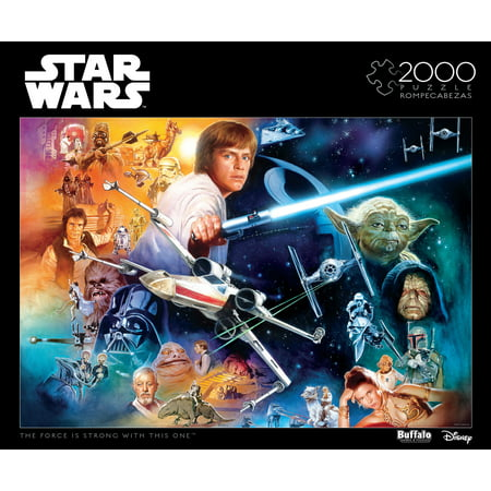 Star Wars Puzzle (Buffalo Games 2000 Piece Puzzle, Star Wars: The Force Is Strong With This)
