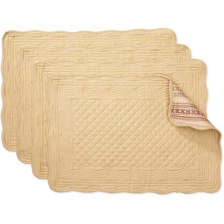 Better Homes And Gardens Reversible Quilted Placemats Set Of 4