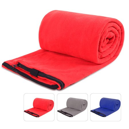 Redcamp Fleece Sleeping Bag Liner For Warm Weather Full Sized Zipper Backng Blanket Outdoor Camping Or Indoor Used With Sack