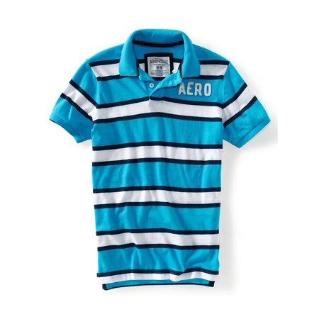- Aeropostale Mens Aero Stripe Rugby Polo Shirt 457 Xs