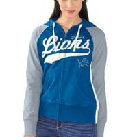 Detroit Lions G-III 4Her by Carl Banks Women's All World Pro Full Zip Hoodie - Blue