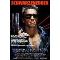 The Terminator Movie Poster Schwarzenegger And Hamilton Destruction 24X36
