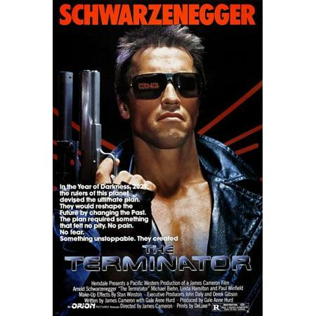 Terminator Wall - The Terminator Movie Poster Schwarzenegger And Hamilton Destruction 24X36